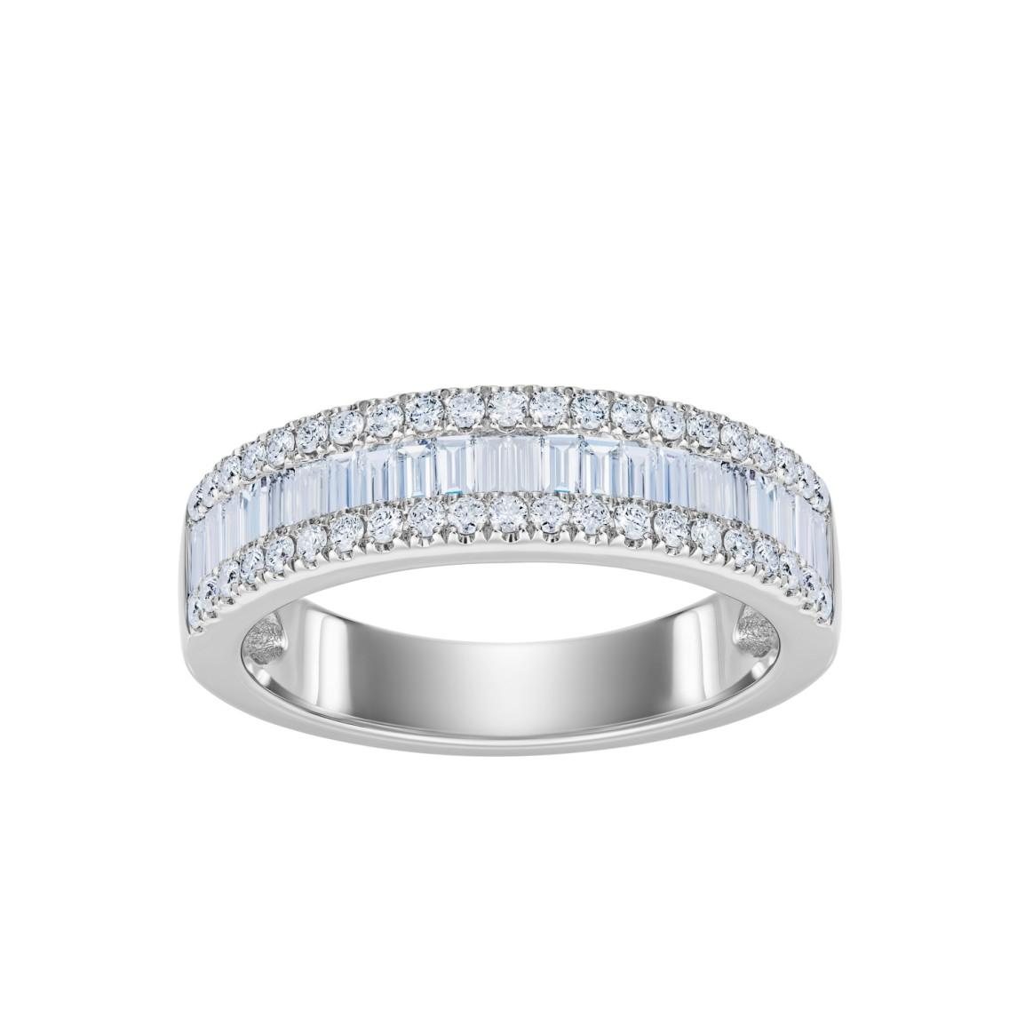Pierścionek z białego złota 0,750 z brylantami i diamentami