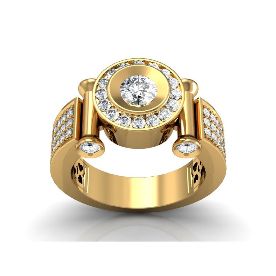 Złoty pierścionek z brylantami DR152Z