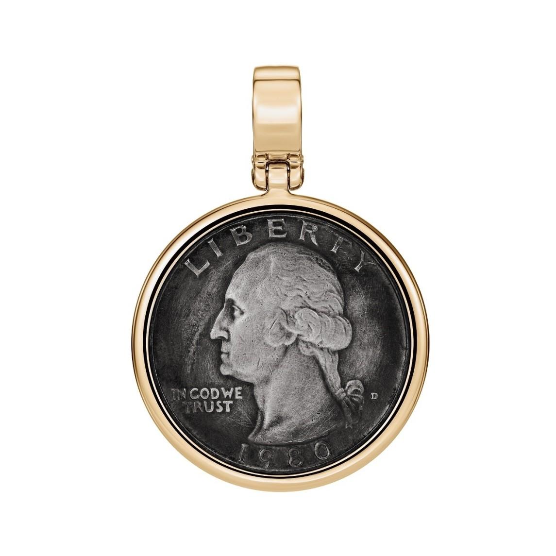 Zawieszka ze złota z monetą
