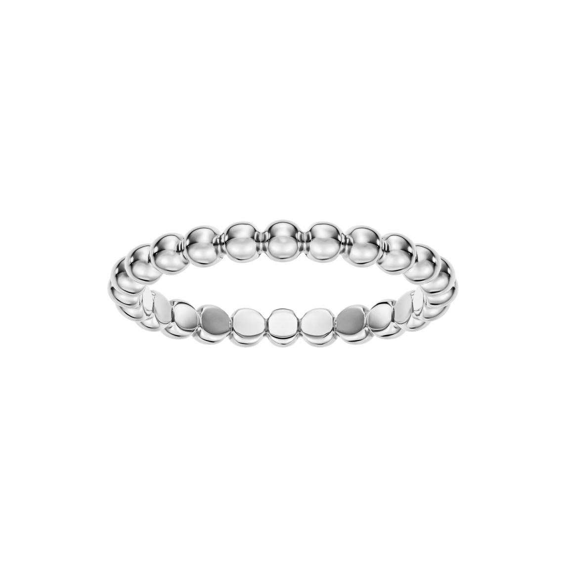 Pierścionek Rings z białego złota