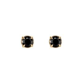 Kolczyki z żółtego złota 0,750 z czarnymi diamentami