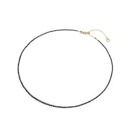 Naszyjnik w różowym złocie 0,750 z czarnymi diamentami