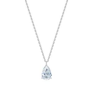 Naszyjnik z białego złota 0,750 z diamentem