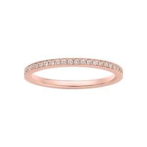 Pierścionek z różowego złota z brylantami