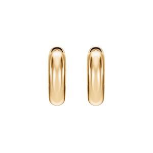 Kolczyki koła z żółtego złota 0,750