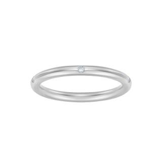 Pierścionek Rings z białego złota z brylantami