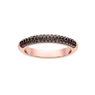 Złoty pierścionek z czarnymi brylantami DRB136R