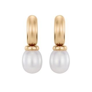 Kolczyki z żółtego złota z perłami