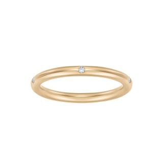 Pierścionek Rings z żółtego złota z brylantami