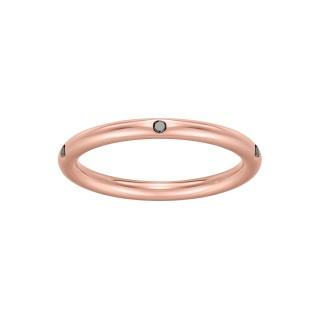 Pierścionek z różowego złota z czarnymi diamentami